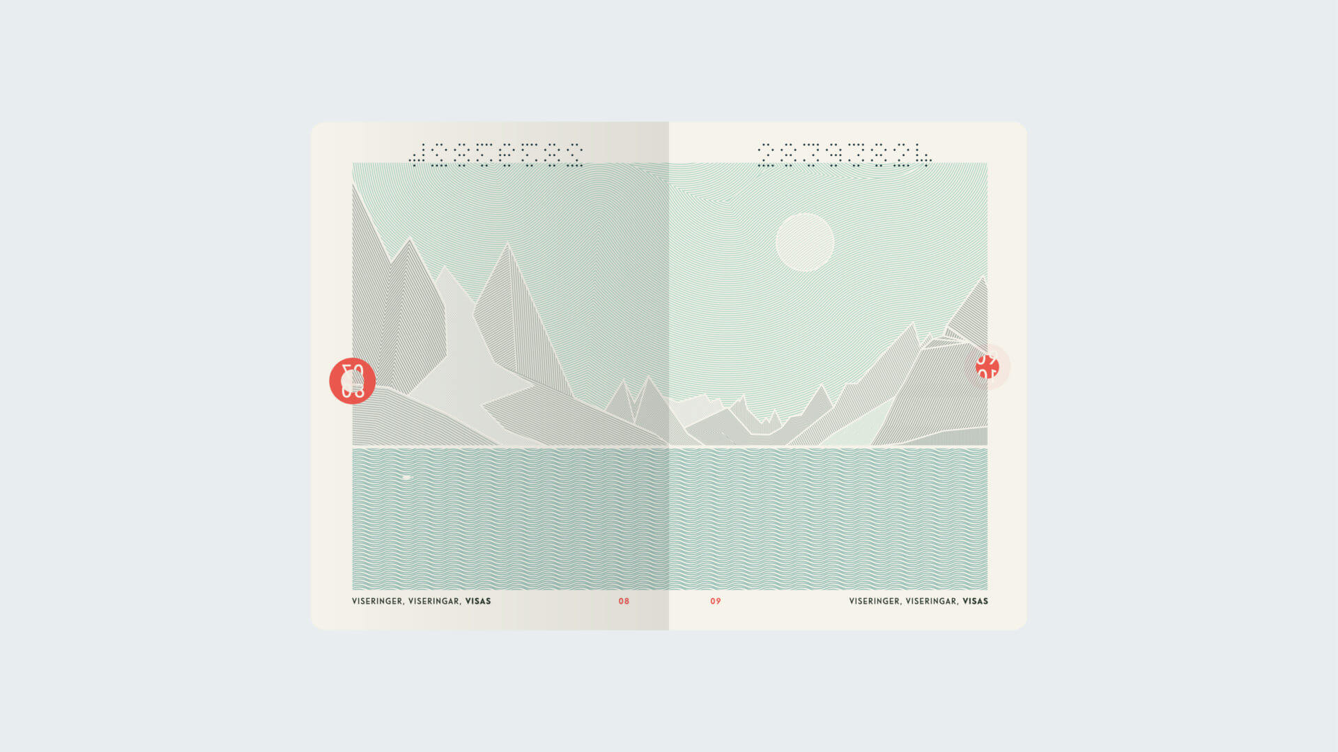 Oslo-based design studio Neue, did a great job redesigning the Norwegian passport